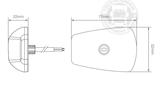 LED TOP LIGHT / MARKIERUNGSLAMPE - 9-32V - ORANGE GLAS_