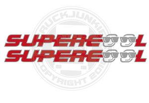 SUPERCOOL - ZWEIFARBIGER AUFKLEBER