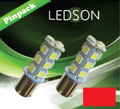 LED-LAMP ROT 360 P21W 18SMD BA15s