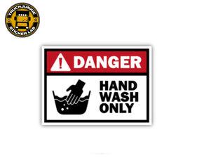 DANGER HAND WASH ONLY - FULL PRINT AUFKLEBER