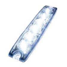ULTRA DÜNNE BLITZLAMPE - 6 LED - WEISS