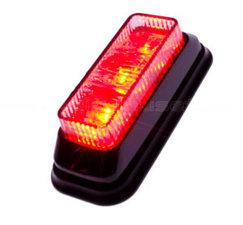 BLITZER 3 LED - GENEIGT - ROT