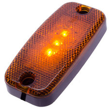 SEITENMARKIERUNGS LEUCHT 3 LED - ORANGE 9~36V
