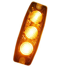 ULTRA DÜNNE BLITZLAMPE - 3 LED - ORANGE