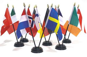 DOUBLE - LANDE FLAG MIT STÄNDER