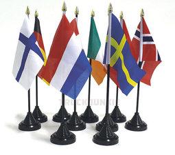 SINGLE - LANDE FLAG MIT STÄNDER