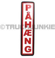 PAHAENG SCHILD ROT - 40X10CM