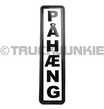 PAHAENG SCHILD SCHWARZ - 40X10CM