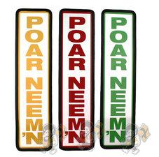 POAR NEEM'N SCHILD - 40X10CM