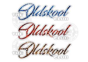 THE OLDSKOOL CLUB - PLUCHE - FULL PRINT AUFKLEBER