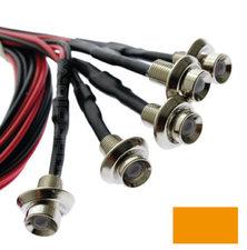 EINBAU LED- ORANGE - CHROM - 5 Stück