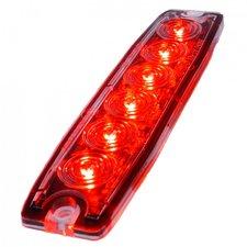 ULTRA DÜNNE BLITZLAMPE - 6 LED - ROT