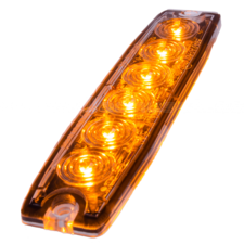 ULTRA DÜNNE BLITZLAMPE - 6 LED - ORANGE