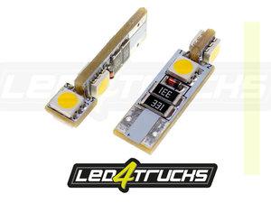 WARM WEISS - 4xSMD LED 24V - W3W / W5W