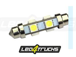 XENON WEISS - 6xSMD LED 24-28V - FESTOON