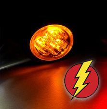 LED BLITZLICHT - HIDE AWAY - AXITECH UR03  ECE R65 - ORANGE
