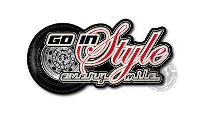 GO IN STYLE EVERY MILE TRUCKJUNKIE TRUCKSTICKER