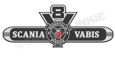Scania Vabis V8 Old Sticker