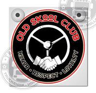 OLD SKOOL CLUB HONOR RESPECT LOYALTY LICHTBAKJE