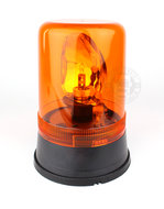 ROTATING BEACON  - FLAT BASE -  24 VOLT - ORANGE