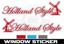 Holland style sticker met molen vrachtwagen