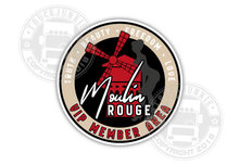 BEIGE MOULIN ROUGE MEMBER AREA STICKER - PIN UP